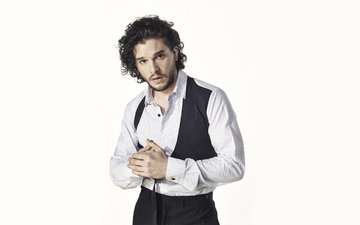 actor, photographer, white background, newspaper, shirt, 2015, kit harington, dean chalkley, the observer