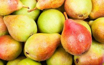 фрукты, груша, спелые