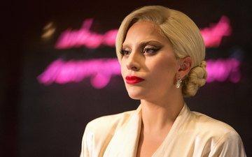 девушка, блондинка, портрет, музыка, волосы, лицо, певица, леди гага