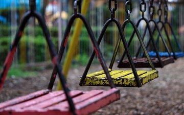 качели, игровая площадка для детей