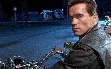 взгляд, фильм, кино, мотоцикл, фильмы, терминатор, шварц, арни, шварцнегер