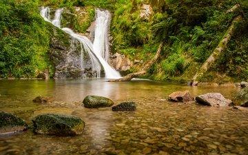 река, камни, водопад, германия, баден-вюртемберг, каскад, шварцвальд, black forest, lierbach river, водопад всех святых, река лирбах