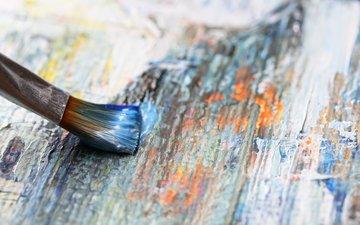 дерево, краска, роспись, живопись, древесина, кисточка, акриловая