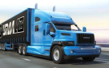 road, machine, russia, transport, truck, new, gas, ural, ural-next