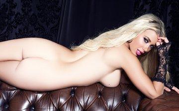 девушка, блондинка, попа