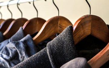 костюмы, метал, шкаф, вешалки, вешалка