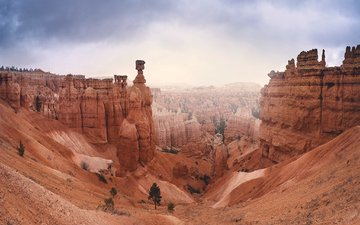 горы, скалы, пейзаж, штат юта, брайс каньон национальный парк