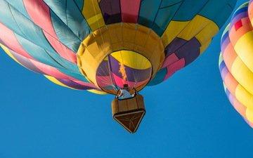 небо, полет, спорт, воздушные шары