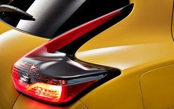 yellow, headlight, nissan, rear view, 2015, juke