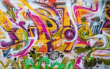 текстура, цвет, стена, граффити, стрит-арт