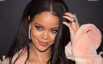 брюнетка, лицо, актриса, певица, макияж, прическа, рианна, крупным планом
