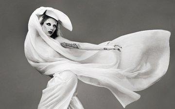 black and white, actress, singer, lady gaga
