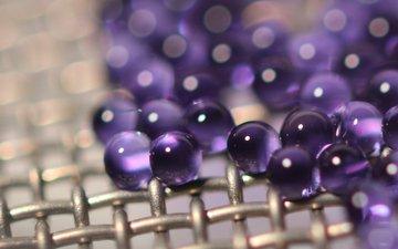 металл, шарики, сетка, стекло, фиолетовые