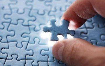 рука, пальцы, голубая, пальцев, часть, пазлы, головоломка, деталь, light puzzle