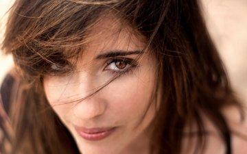 глаза, девушка, портрет, взгляд, модель, волосы, лицо, шатенка
