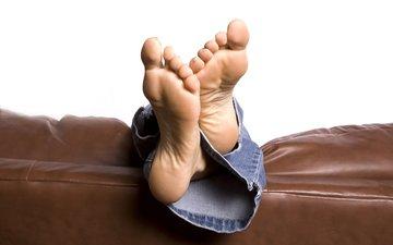 джинсы, ноги, диван, джинс, ногами