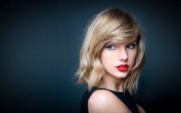 девушка, блондинка, портрет, волосы, лицо, певица, макияж, тейлор свифт