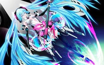 girl, guitar, music, anime