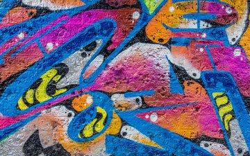 текстура, цвета, стена, граффити, искусство, стрит-арт