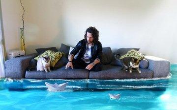 water, ships, cat, people, room, sofa, k