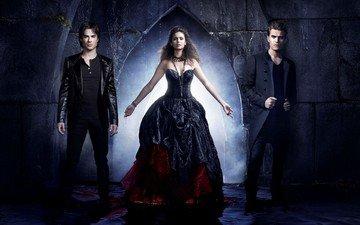 the vampire diaries, the series, nina dobrev, elena, damon, stefan, ian somerhalder, paul wesley, season 4