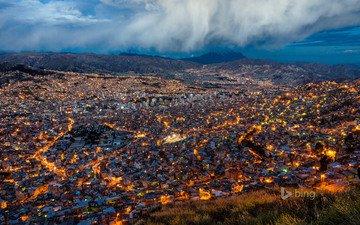 the city, bolivia, bing, la paz