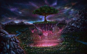 art, tree, fantasy, plant