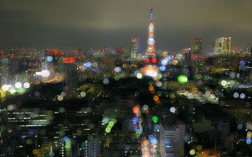 night, lights, the city, japan, tokyo