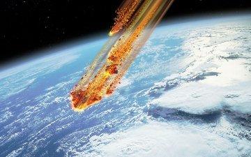 космос, планета, метеорит, астероид