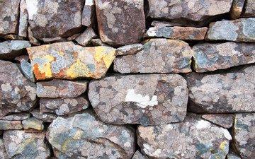 камни, текстура, стена, булыжники