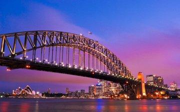 мост, сидней, австралия, гавань