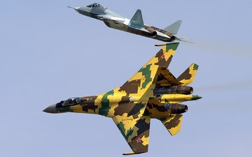 the plane, fighter, su-35