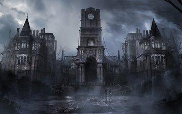 art, fantasy, the old castle