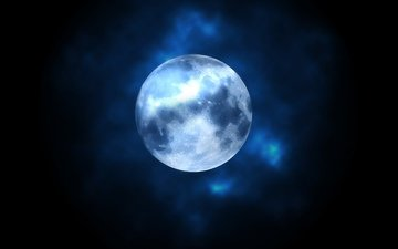 the sky, night, nature, wallpaper, background, the moon, sky, moon, k