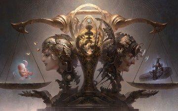 libra, death, life, the gods