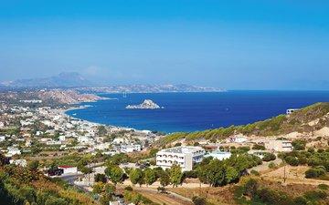 море, побережье, остров, греция, кос