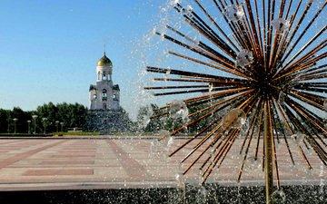 город, фонтан, россия, площадь, часовня, урал, каменск-уральский