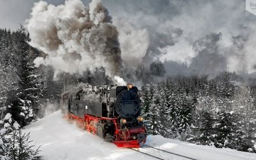 mountains, germany, the engine, harz