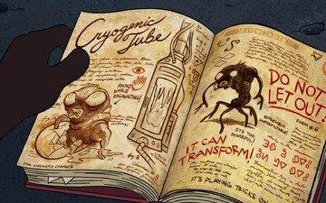 cartoon, book, gravity falls