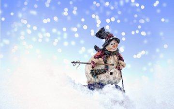 снег, новый год, снеговик, рождество, xmas, встреча нового года, 2016, елочная, merry