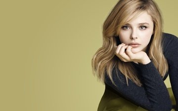 girl, background, portrait, look, hair, face, actress, chloe moretz, chloe grace moretz