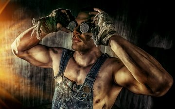 guy, glasses, hands, grimy, hard worker