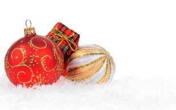 новый год, красный, шарики, праздник, рождество, встреча нового года, елочная