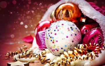 новый год, зима, шарики, праздник, рождество, декорация, встреча нового года, 2016, елочная