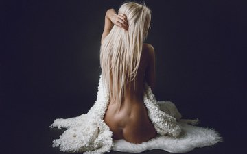 blonde, beauty, photographer, tenderness, posing, body, ass, back, bad teddy™, in fur