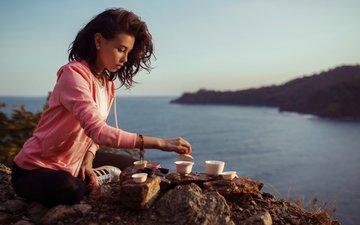 девушка, модель, волосы, чай, алия, горохов