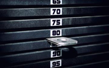 числа, спортзал, numbers, вес, тренажерный зал, exercise machine, тренажер