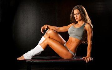 девушка, ноги, фитнес, аэробика