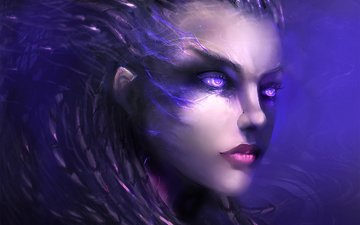 art, look, the game, face, character, starcraft 2, sarah kerrigan