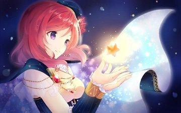 art, girl, smile, anime, magic, asterisk, nononon, love live! school idol project, nishikino maki